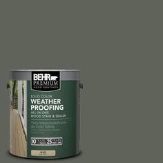 BEHR Premium, 1-gal. #SC-131 Pewter Solid Color Weatherproofing All-In-One Wood Stain and Sealer, 501301 at The Home Depot - Tablet