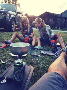 Dinner outdoor! Camping in Lom, Norway