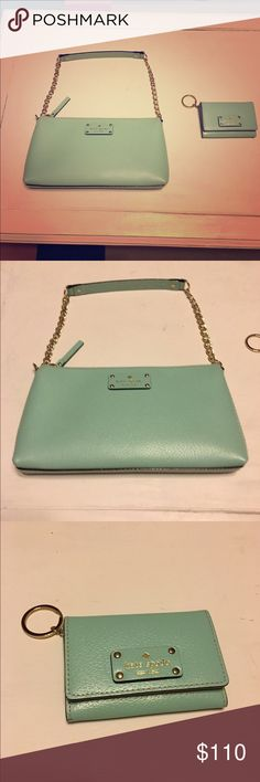 Kate spade shoulder bag with credit card wallet. Brand new Kate spade shoulder bag, and credit card wallet. The tags are not on the bag, but this is a new item. kate spade Bags Shoulder Bags