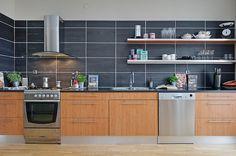 large format tile kitchen backsplash