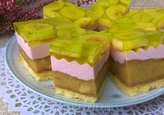 bananowiec z pianką Cheese Squares, Polish Recipes, No Bake Desserts, Ale, Recipies, Cheesecake, Pudding, Food, Beautiful Pictures