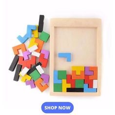 Puzzle Wooden Tetris for All Ages – rudytop Educational Toys For Kids, Kids Toys, Ideal Toys, Unique Toys, Non Toxic Paint, Toy R, Puzzle Toys, Wooden Puzzles, Color Shapes