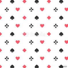 Vektor: Nahtloses skalierbares Spielkarten-Muster