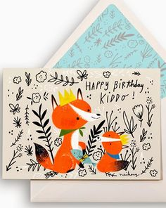 Design collective Forest foundry is one year old and to celebrate they have each created a birthday card.