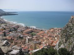 View of Cefalu from above on the Rock