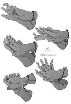 Como Dibujar Manos Agarradas paso a paso Hand Drawing Reference, Drawing Hands, Drawing Reference Poses, Anatomy Reference, Drawing Poses, Drawing Tips, Holding Hands Drawing, Gesture Drawing, Design Reference