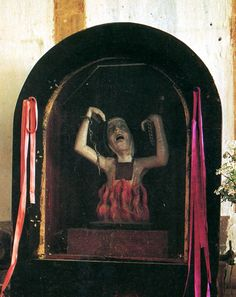 "chamanka:  pantagruelic:""Soul in Purgatory"" church of Patrocina Maria Santisima, Oaxaca"