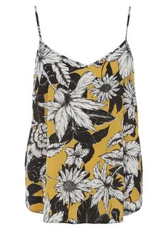 yellow floral v front cami from dorothy perkins $19