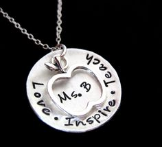 Favorite Teacher Hand Stamped Jewelry with by byHannahDesign