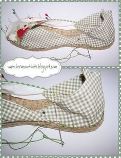 How to make your espadrilles / espadrille-craft-alpargata Crochet Sole, Crochet Shoes Pattern, Shoe Pattern, Recycled Shoes, Shoe Cupboard, Rope Crafts, Espadrille Shoes, Felted Slippers, Fabric Shoes