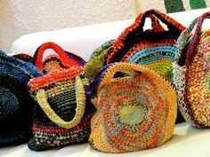 Circular crochet bags - inspiration