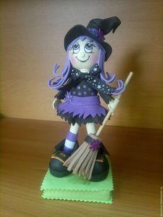 Купить Колдуньи и Баба Яга куклы из фоамирана - ведьма, колдунья, баба яга, кукла из фоамирана