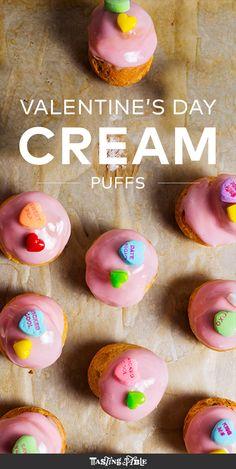 Raspberry Cream Puffs Recipe