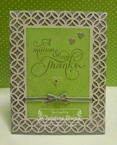 "Stampin' Up!® Simply Fabulous Simply Sent Card Kit - Small Heart punch, Smoky Slate 1/8"" Taffeta Ribbon"