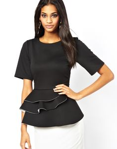 Structure: ASOS Peplum Top with Double Frill