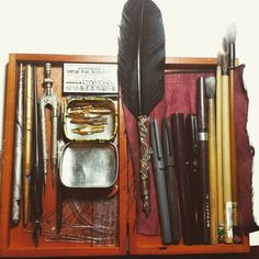 Sam Guay's pen collection.