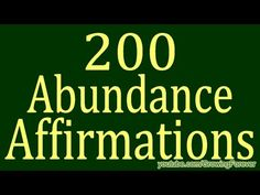 200 ★POWERFUL★ Abundance Affirmations & Images #8 - Wealth Prosperity Money Cash Law of Attraction - YouTube
