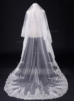 Wedding Veils - $38.99 - One-tier Chapel Bridal Veils With Lace Applique Edge (006031063) http://jjshouse.com/One-Tier-Chapel-Bridal-Veils-With-Lace-Applique-Edge-006031063-g31063