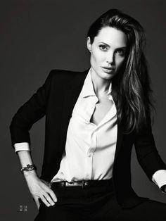 Angelina Jolie by Hedi Slimane for Elle.