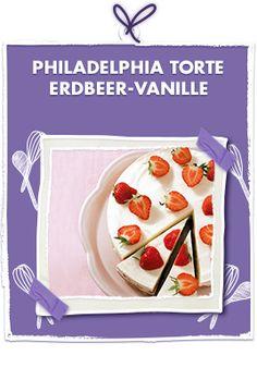 Philadelphia-Torte Erdbeer-Vanille