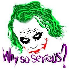 Heath Ledger Joker fan art Why so serious? Joker Y Harley Quinn, Harley Quinn Drawing, Joker Dc, Joker Drawing Easy, Joker Drawings, Joker Images, Joker Pictures, Joker Stencil, Joker Cartoon