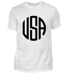 ☛ MONOGRAM · CIRCLE · USA #5 T-Shirt Monogram, Usa, Sports, Tops, Fashion, Hs Sports, Moda, Fashion Styles, Monograms