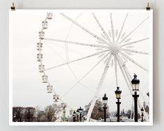 Paris Photography Ferris Wheel Paris Print by TheParisPrintShop