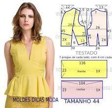 Resultado de imagem para moldes de blusas femininas