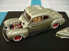 Custom Hot Rod The kit I was most proud of building was a yellow 40 coupe with a Buick nailhead engine.