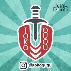 Desain logo Tokoququ by Klinik Desain Ku Logo Design, Calm, Logos, Artwork, Work Of Art, Auguste Rodin Artwork, Logo, A Logo, Artworks
