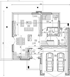 Home Design Plans, Planer, House Plans, Sweet Home, New Homes, Villa, Floor Plans, House Design, How To Plan