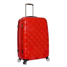 RED LIPS HARD SUITCASE!!  IF I DIDN'T HAVE SUCH EXTRAORDINARY GOOD TASTE, AND HAVE MY LIMITS AS A FLAMER, I'D HAVE ADORED OWNING THIS CASE!! THANK GOD I'M RELATIVELY BUTCH!