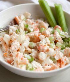 Recette facile de salade de crevettes!
