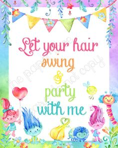 trolls party decor trolls song lyrics i see your true colors