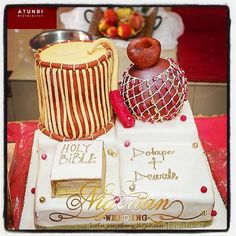 Incorporating the word of God – Gâteau Mariage Traditional Wedding Cakes, Traditional Cakes, Elegant Wedding Cakes, Wedding Cake Designs, Gorgeous Cakes, Amazing Cakes, African Wedding Cakes, African Cake, The Good German