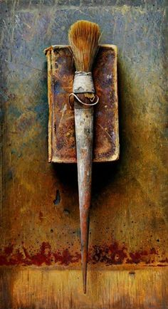 John Whalley: Still Life Oil painting but would look good as assemblage piece Assemblage Art, Paint Brushes, Medium Art, Art Studios, Creative Inspiration, Color Inspiration, Mixed Media Art, Altered Art, Still Life