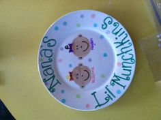 DIY grandparent gift Design a plate with permanent markers. Bake in the oven at 450* for 20-30 minutes