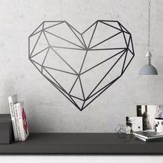 Adesivi Murali: Origami cuore #sanvalentino #valentino #decorazione #vinyle #adesivi #muro #vetrina #negozio #deco #StickersMurali