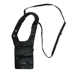 CTM Unisex Leather Travel Shoulder Wallet Black -- Check out the image by visiting the link.
