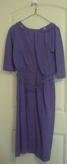 Vintage Periwinkle Blue Wool Dress Dan Keller by TallulahsVintage, $20.00
