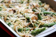 Healthified Thanksgiving Menu: Green bean casserole and Double Potato Mash