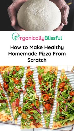 We are huge pizza lovers here and I want to share with you how to make healthy homemade pizza from scratch!I love making homemade pizza because it is very Healthy Homemade Pizza, Making Homemade Pizza, How To Make Homemade, Healthy Cooking, Pizza Recipes, Easy Dinner Recipes, Vegan Recipes, Easy Recipes, Star Pizza