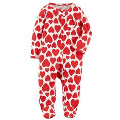 fa2ce90ec7 Baby Girl Carter s Heart Print Sleep   Play