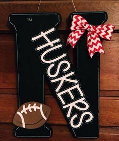 18 Nebraska Huskers Football Door Hanger by BEaBLESSING12 on Etsy