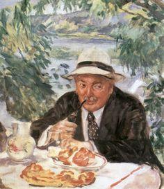 Csók, István (1865-1961) - Godfather's Breakfast, 1932