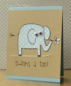Elephant thank you card❣ Lucy Abrams • Flickr