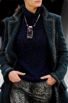 black and raw crystal rocks my world  falling all over myself from this collection,  chanel fall winter 2013, Sadee Says!!!