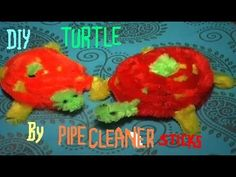 DIY Turtle Toy for Decoration by Pipe Cleaner Sticks