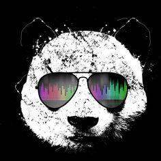 Old School Panda T Shirt By Clingcling Design By Humans Dj Panda, Cool Panda, Panda Love, Panda Ring, Panda Illustration, Image Panda, Ps Wallpaper, Panda Wallpapers, Bear Art