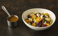 Kumquats and Blood Orange Winter Salad--with some buttery, herby chicken on the side.